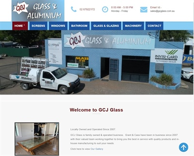 Aluminium and Glass website